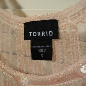torrid Tops - Pink Sequin Blouse